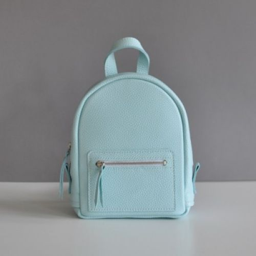 Женский кожаный рюкзак Baby Sport Blue голубой
