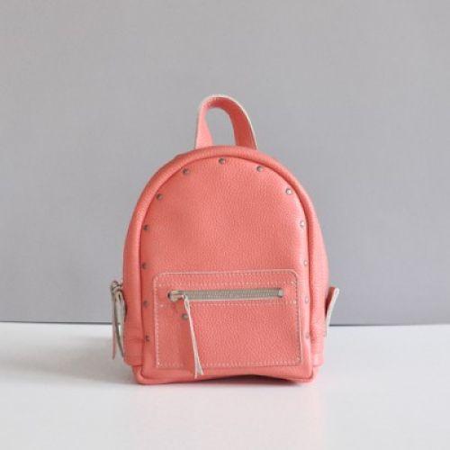Женский кожаный рюкзак Baby Sport Terracota персиковый