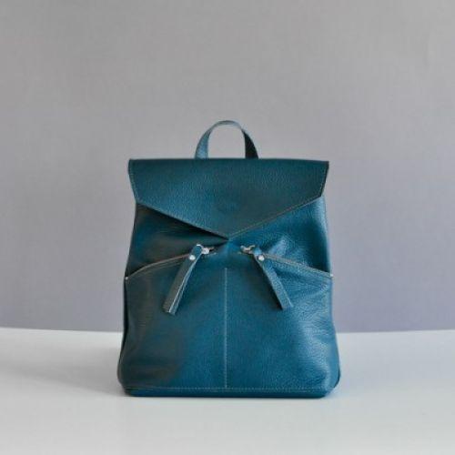 Женский кожаный рюкзак Balance Emerald зеленый