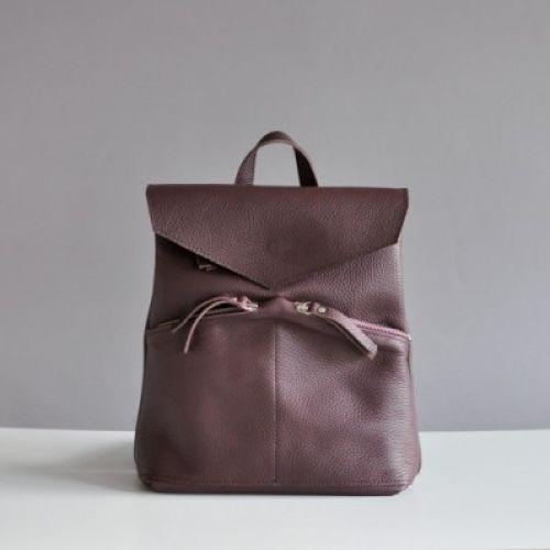 Женский кожаный рюкзак Balance Wine фиолетовый