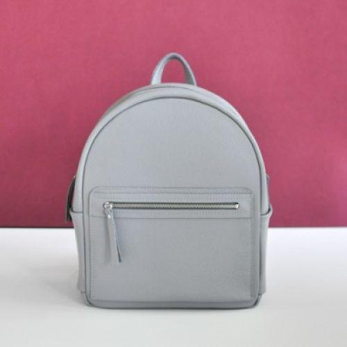 Женский кожаный рюкзак Big Sport серый