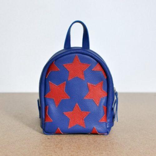 Женский кожаный рюкзак Captain America синий