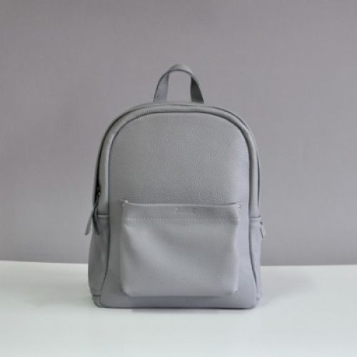 Женский кожаный рюкзак Carbon-S Grey серый