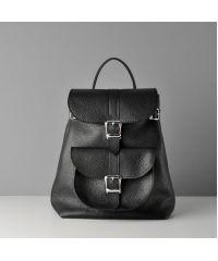 Кожаный рюкзак Classik Black черный