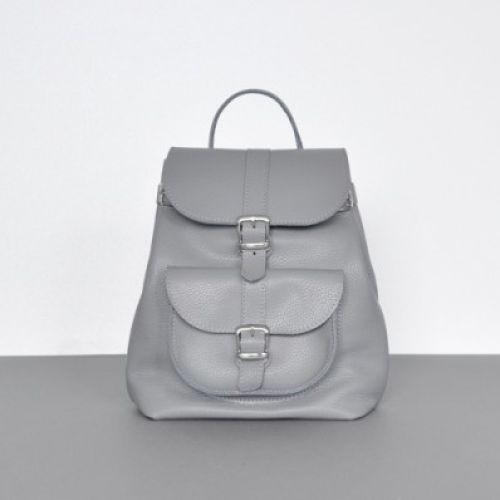 Женский кожаный рюкзак Classik Grey серый