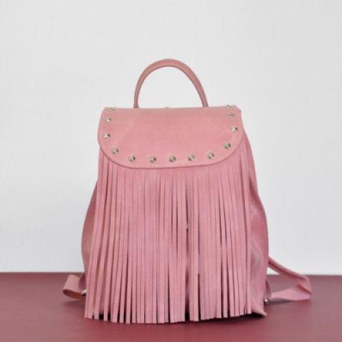 Женский кожаный рюкзак Ethnic Bubblegum розовый