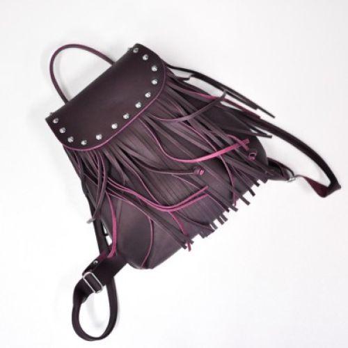 Женский кожаный рюкзак Ethnic Wine фиолетовый