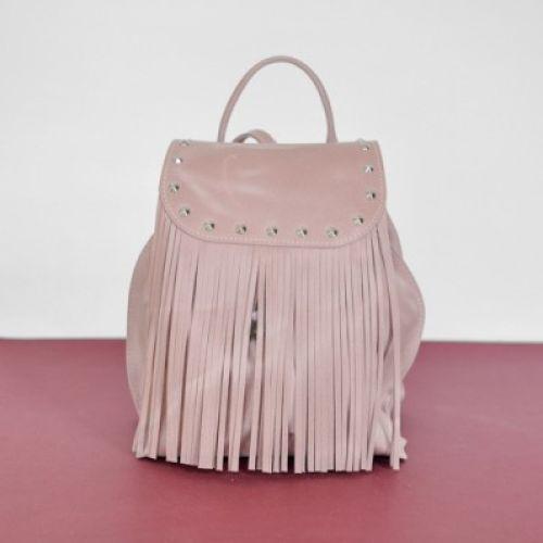 Женский кожаный рюкзак Ethnic Zephyr розовый