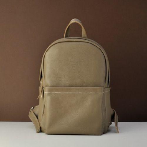 Женский кожаный рюкзак Jizuz Carbon Beige бежевый