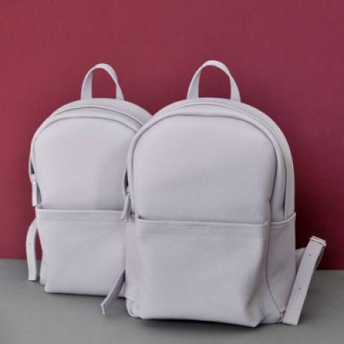 Женский кожаный рюкзак Jizuz Carbon Lilac лиловый