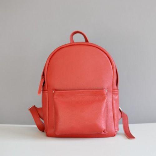 Женский кожаный рюкзак Jizuz Carbon Red красный