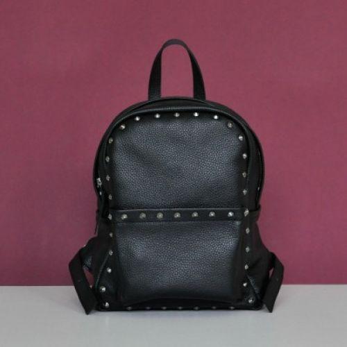 Женский кожаный рюкзак Jizuz Carbon Rock черный