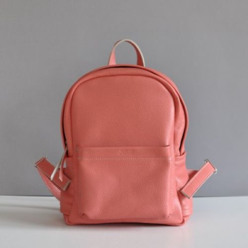 Женский кожаный рюкзак Jizuz Carbon-S персиковый