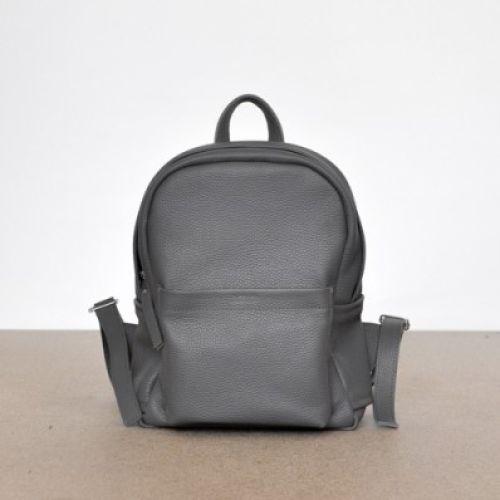 Женский кожаный рюкзак Jizuz Carbon-S Dark-Grey серый
