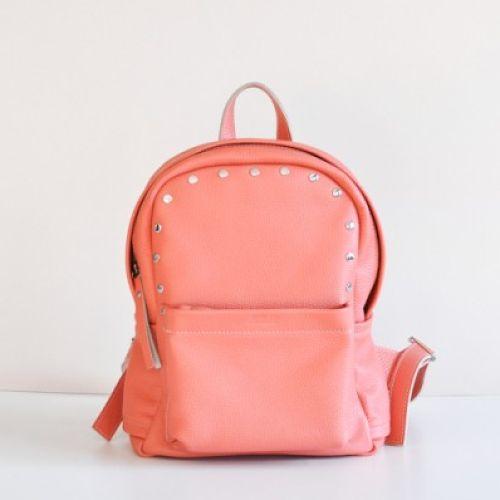 Женский кожаный рюкзак Jizuz Carbon-S Terracota персиковый