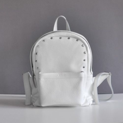 Женский кожаный рюкзак Jizuz Carbon-S White белый