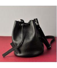 Женская кожаная сумка Jizuz Cross black черная