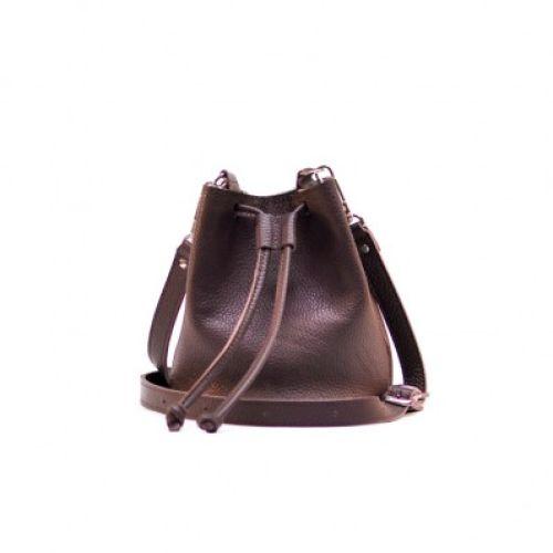 Женская кожаная сумка Jizuz cross burgundy фиолетовая