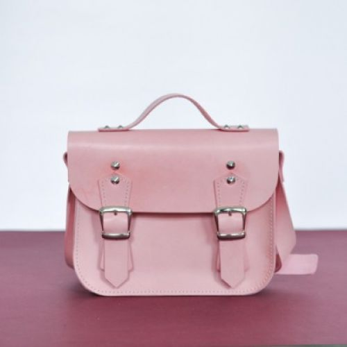 Женский кожаный клатч Jizuz Sathcel Mini розовый