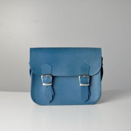Женский кожаный клатч Jizuz Sathcel Mini синий