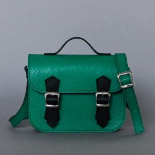Женский кожаный клатч Jizuz Sathcel Mini зеленый