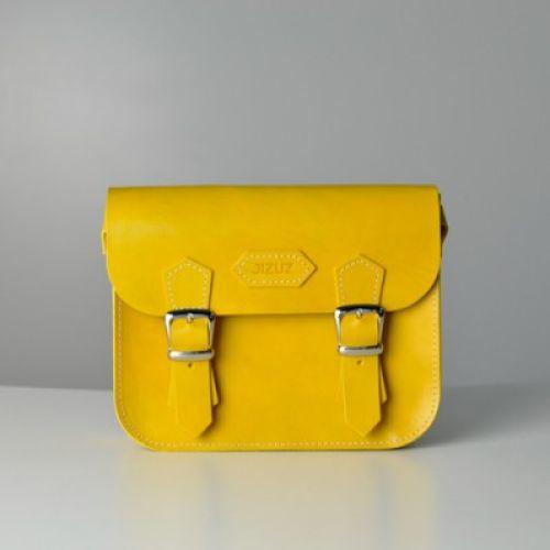 Женский кожаный клатч Jizuz Sathcel Mini желтый