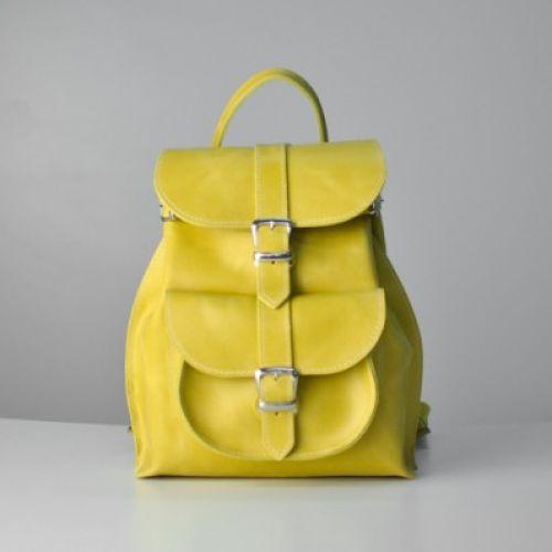 Женский кожаный рюкзак JIZUZ Tulip Lemon желтый