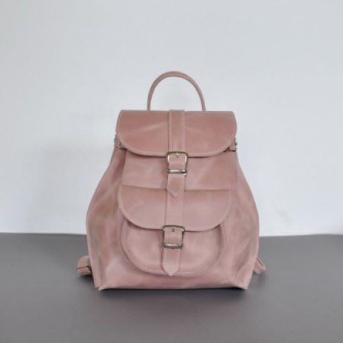 Женский кожаный рюкзак JIZUZ Tulip Zephyr розовый