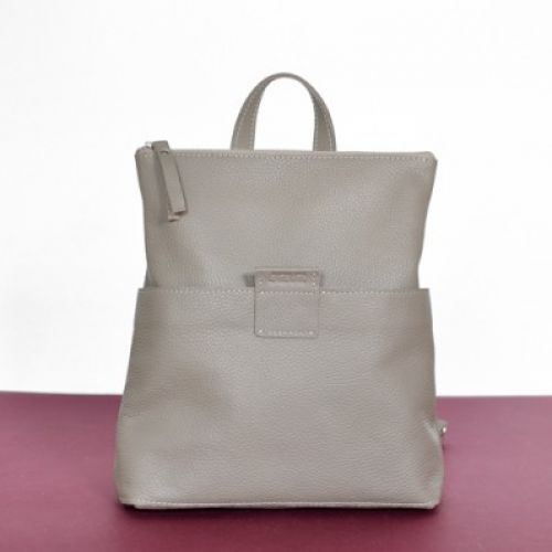 Женская кожаная сумка-рюкзак K-2 Biege бежевая