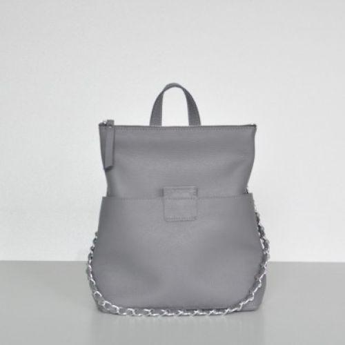 Женская кожаная сумка-рюкзак K-2 Grey серая