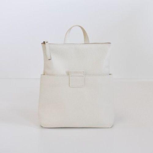 Женская кожаная сумка-рюкзак K-2 Milk молочная