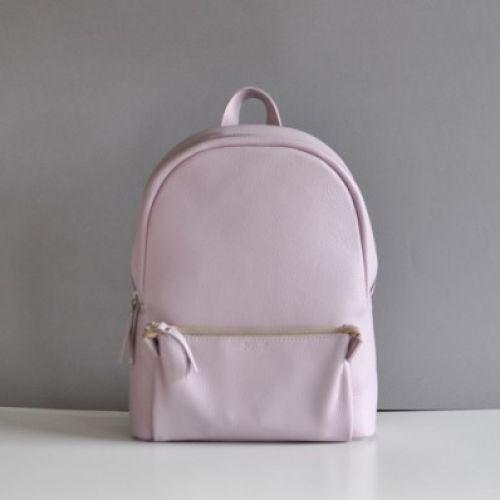 Кожаный рюкзак Pilot Lilac лиловый