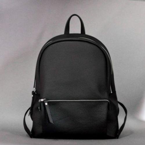 Женский кожаный рюкзак Pilot New черный