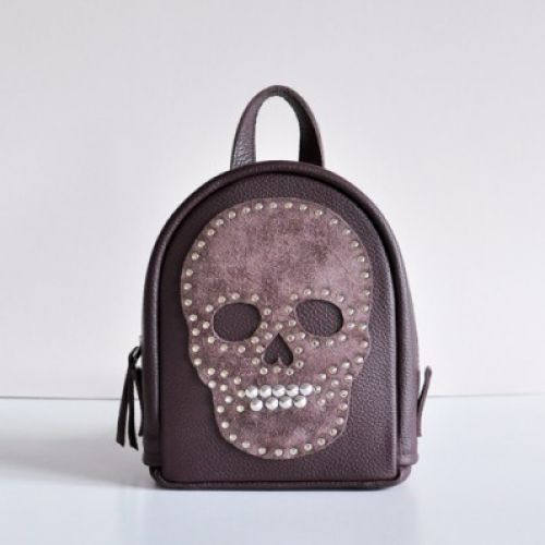 Женский кожаный рюкзак Roger бордовый