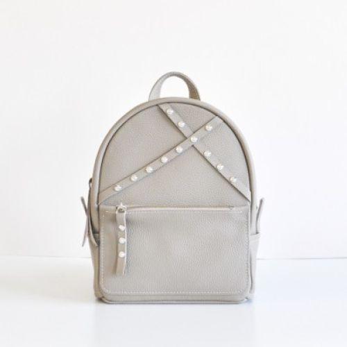 Женский кожаный рюкзак Sakura beige бежевый