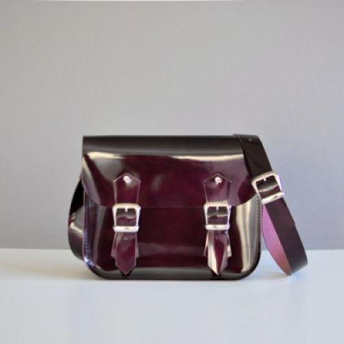 Женский кожаный клатч Satchel Mini Gloss марсала