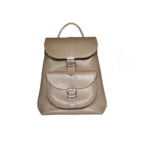 Кожаный рюкзак Сlassik Beige бежевый