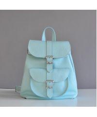 Кожаный рюкзак Сlassik New Aqua голубой