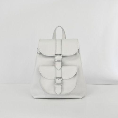 Женский кожаный рюкзак Сlassik White New белый