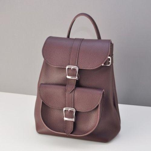 Кожаный рюкзак Сlassik Wine бордовый