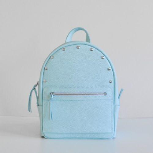 Женский кожаный рюкзак Sport Aqua-R голубой