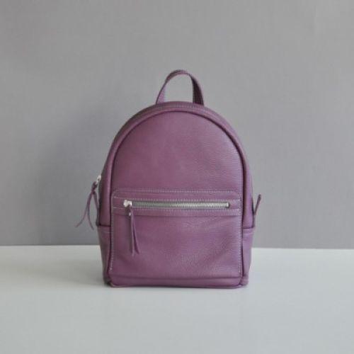 Женский кожаный рюкзак Sport Blackberry фиолетовый