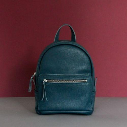 Женский кожаный рюкзак Sport Emerald зеленый