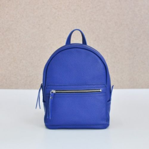 Женский кожаный рюкзак Sport Night Blue синий