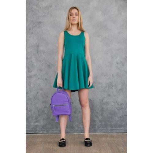 Женский кожаный рюкзак Sport Purple фиолетовый