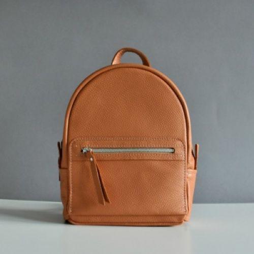 Женский кожаный рюкзак Sport Salmon рыжий
