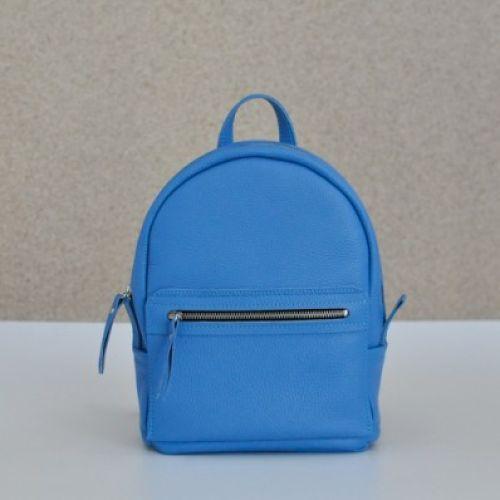 Женский кожаный рюкзак Sport Sky голубой
