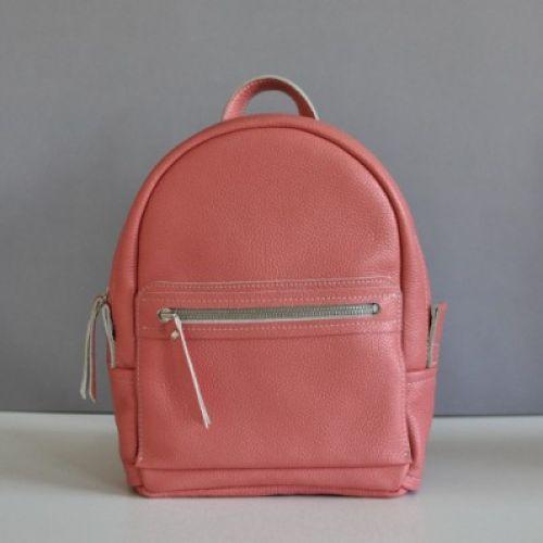 Женский кожаный рюкзак Sport terracota персиковый