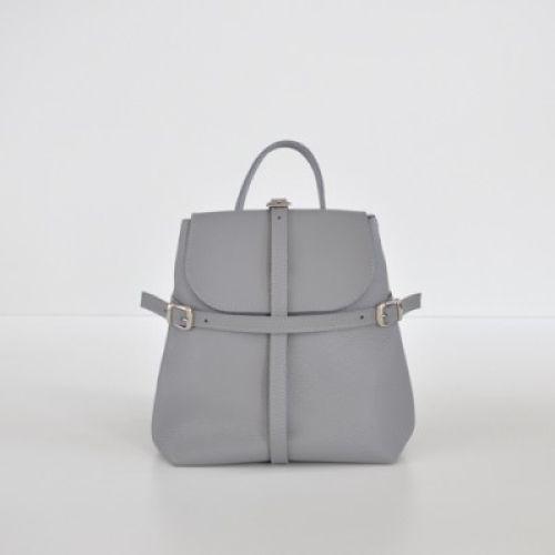 Женский кожаный рюказк Symbol Gray серый