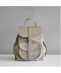 Женский кожаный рюкзак Tulip Biege бежевый